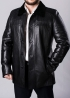Winter leather short coat with fur STSK2BB