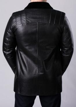 Зимнее кожаное пальто на меху STSK2BB