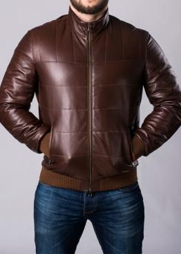 Осенняя кожаная куртка под резинку TRPHL1K