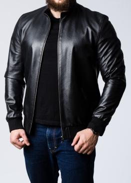 Spring leather perforated elastic jacket TRPL0B