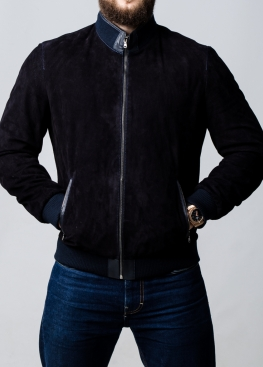 Весенняя замшевая перфорированная куртка мужская TRPZ0I