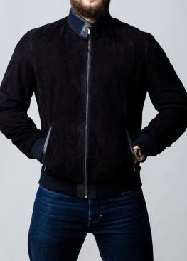 Men's spring suede perforated jacket TRPZ0I