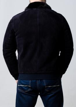 Зимняя замшевая куртка с норковым воротником TRZ2IN